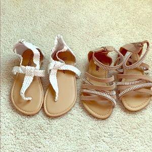EUC Girls sandal bundle size 1/2